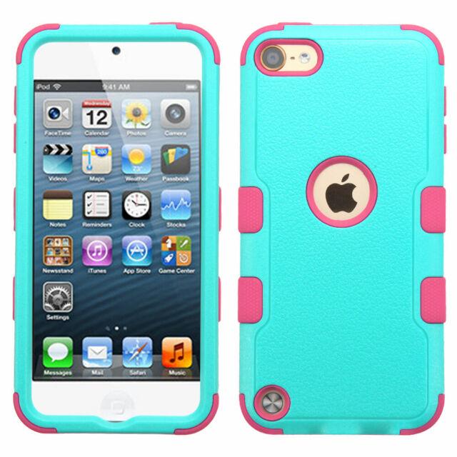 7e64f04bb3 MYBAT Teal Green/electric Pink Tuff Hybrid Phone Case Apple iPod ...