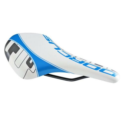 Dorcus Fahrrad Sattel Super Light Shape Racing 2 weiss blau
