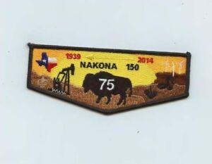 Boy-Scout-OA-150-Nakona-75th-Anniversary-2014-Black-Border-Lodge-Flap