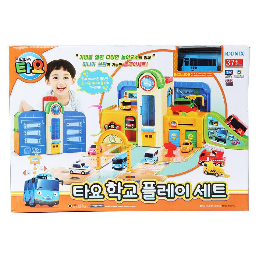 Iconix The Little Bus TAYO The Little Bus School Play Set Garage Jouet