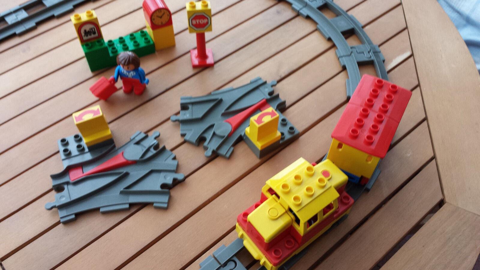 Tolle elekt. LEGO Duplo Eisenbahn Starterset Zubehör (2741) + Zubehör Starterset Rarität 76daf9