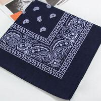 1X Paisley Bandana Head wrap Cotton Head Wrap Neck Scarf Wristband Handkerchief