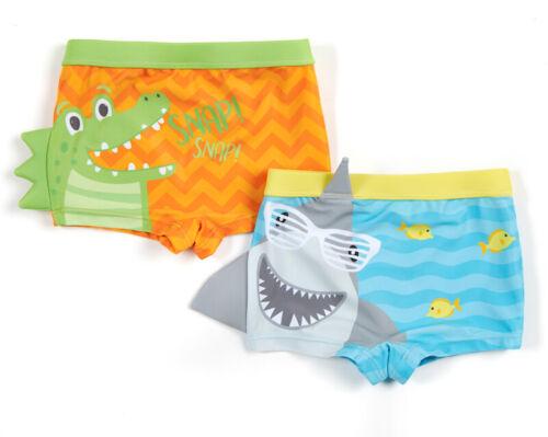 Minikidz maillot de bain garçon crocodile ou requin relief 2 à 6 ans