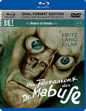DAS TESTAMENT DES DR MABUSE (THE TESTAMENT OF DR. MABUS - BLU-RAY - REGION B UK