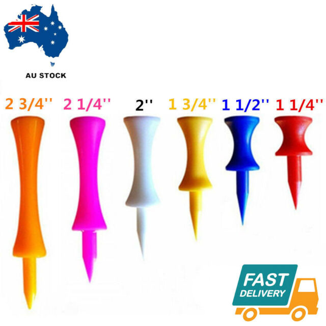 Plastic Tees Golf Step Castle Tee 6 Colors Different Sizes 50Pack 100Pack AU