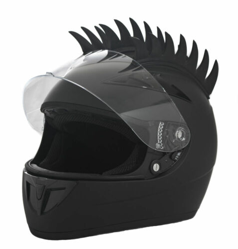 rubber motorcycle helmet warhawk spikes mohawks dirtbike 3M stick on sawblade r1