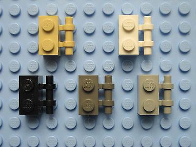 #aa53 Lego ® 10 x 2432 loseta 1 x 2 rojo con asa//soporte 243221 modifica
