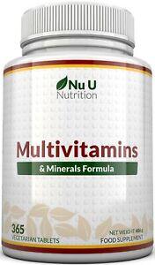 Multivitamins & Minerals Formula 365 tablets Multivitamin100% Guarantee UK Made