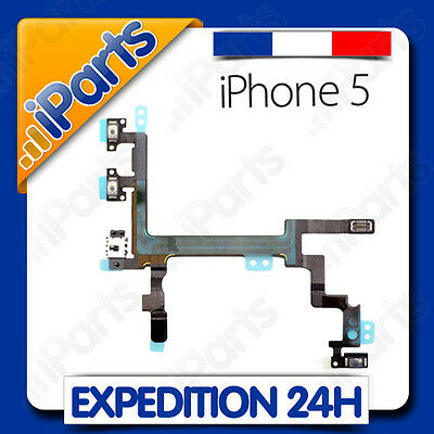 NAPPE BOUTON POWER ON/OFF + VOLUME + VIBREUR POUR IPHONE 5
