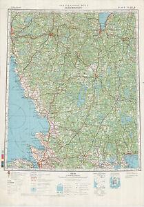 Russian Soviet Military Topographic MapsHELSINGBORG Sweden1500