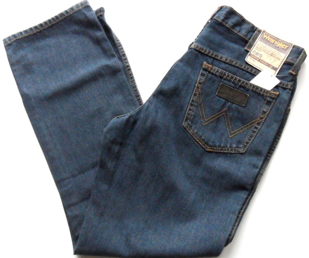 Original WRANGLER Mens Jeans OHIO Comfort Fit Zip Fly Dark Stonewash Waist 30