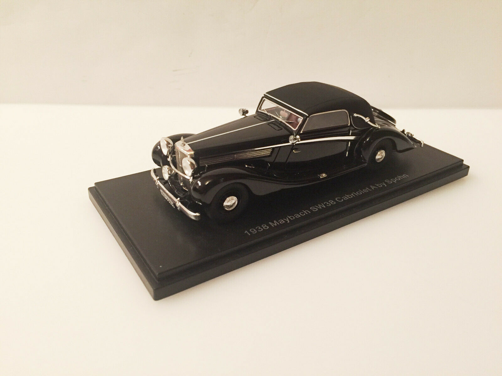 Esval 1938 Maybach SW38 Cabriolet a da Spohn Top Up 1 43 Nuovo