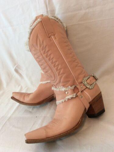 Stivali In Sendra Cowboy Di Vitello Da 6 Pelle Rosa Taglia Medio nnrFx5Hwq