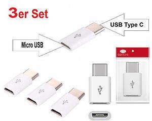 Adapter-Typ-C-3-1-zu-Micro-USB-2-0-Konverter-Daten-Kabel-Ladekabel-schnell-weiss