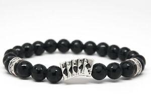 Black-Onyx-Natural-Stone-Beaded-Bracelet-for-Men-Women-Chakra-Charm-DT111