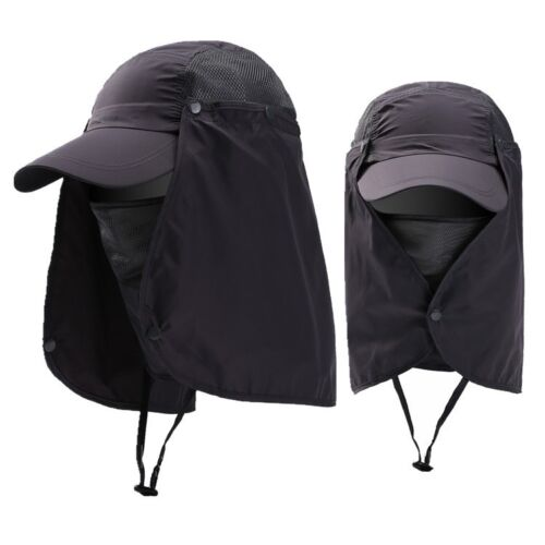 Unisex Outdoor Sport Fishing Hiking Hat UV Protection Face Neck Flap Men Sun Cap