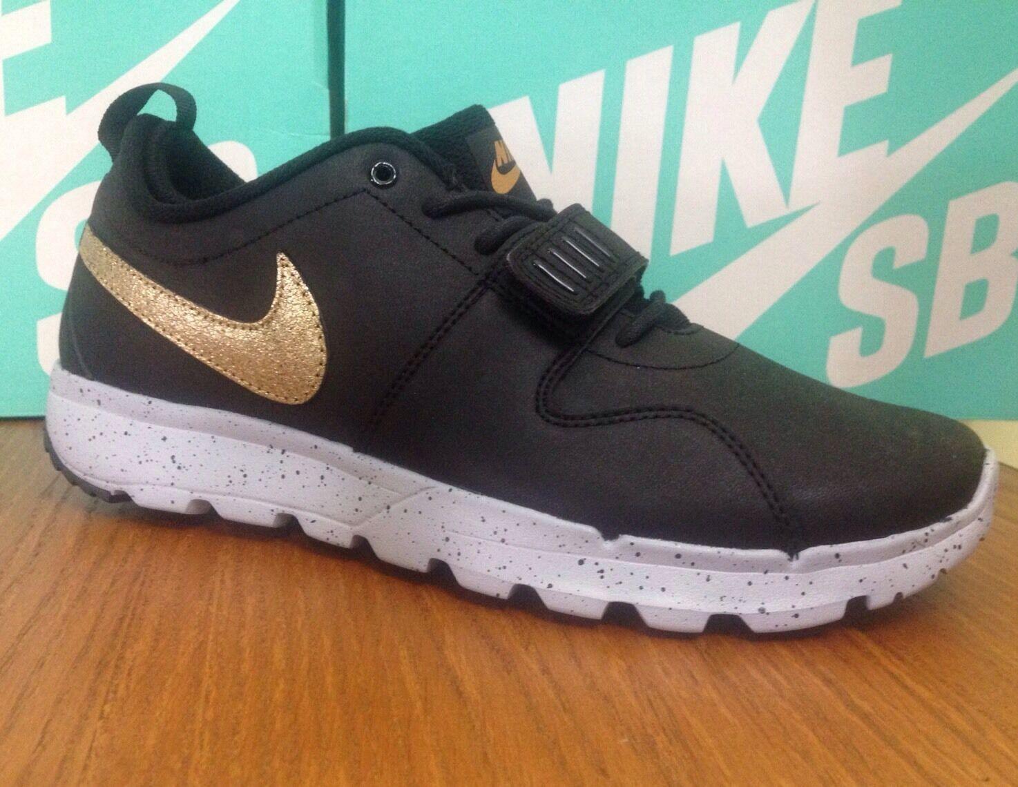 Nike SB Trainerendor Training L QS 823059-070 Black/Gold Various Sizes W/ BOX