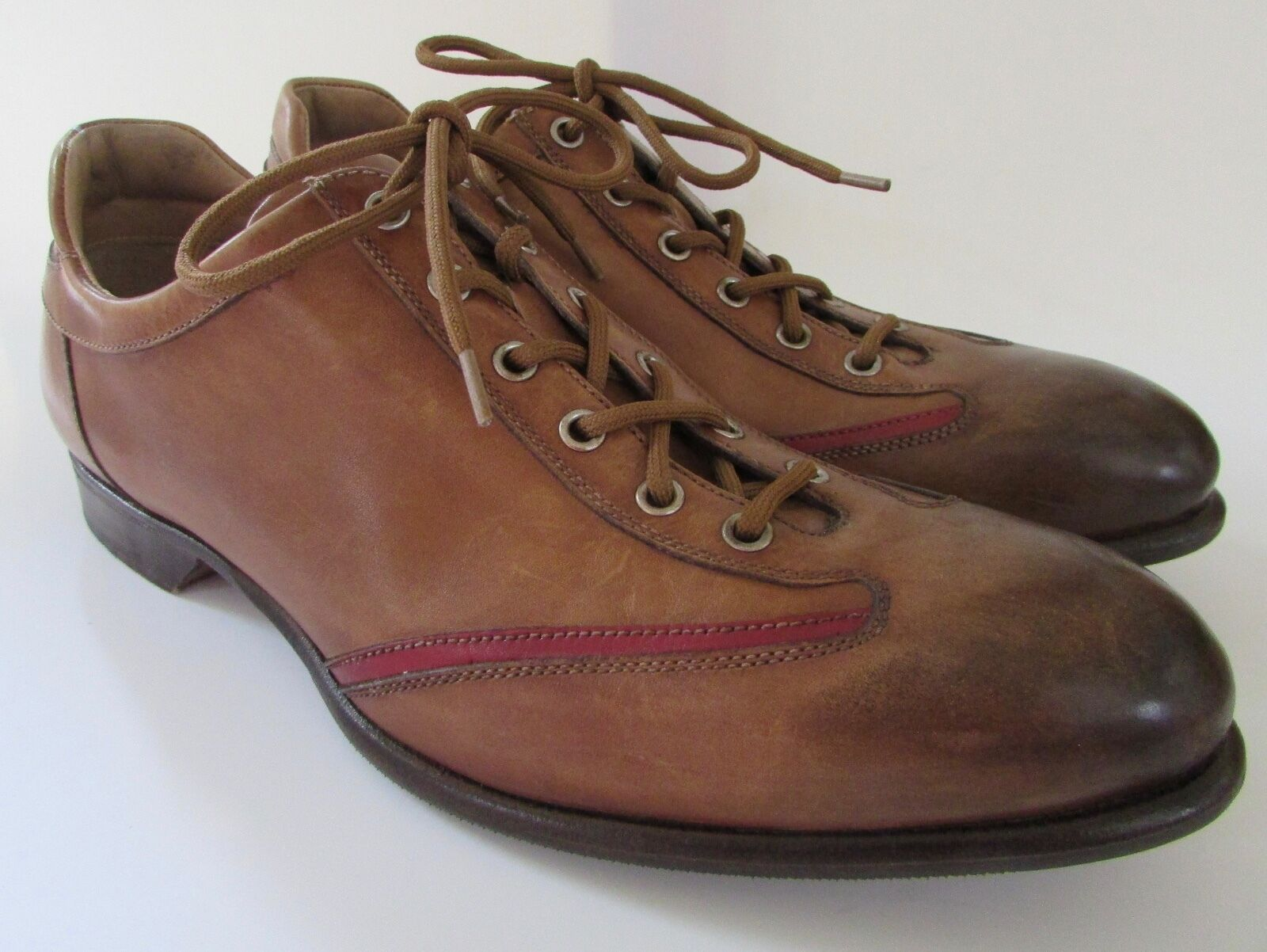 Forzieri  Handmade Leather  Stringate  Lace Oxfords Brown Size 8