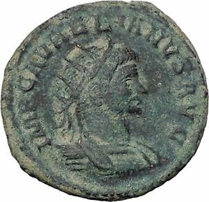 AURELIAN-receving-wreath-from-Orbis-272-274AD-Rare-Ancient-Roman-Coin-i46989