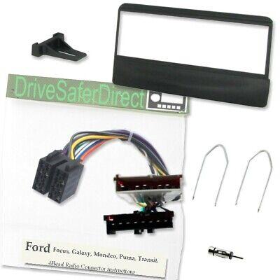 4-Head 2080-c Facia Kit de Adaptador Y Para Radio Iso//Ford Transit 00-06