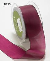 1.5 Inch Solid Two Tone Ribbon - May Arts - Be25 -fuchsia/dk Green - 5 Yards