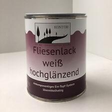 (14,60 EUR/L) Fliesenlack weiß Fliesenfarbe Bad glänzend Profi Qualität 750 ml