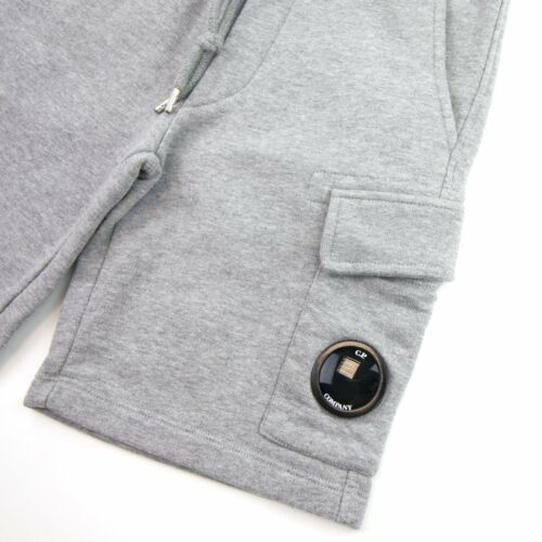 CP Company Undersixteen Grey Lens Logo Bermuda Shorts Grey M93