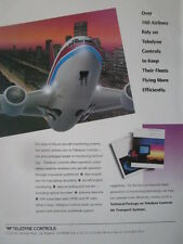 12/1992 PUB TELEDYNE CONTROLS AIRLINE AIRLINER MONITORING SYSTEMS ORIGINAL AD