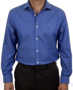 dbcc5541 NEW TOMMY HILFIGER MEN'S NON-IRON SLIM FIT DRESS SHIRT 24N0314 | eBay