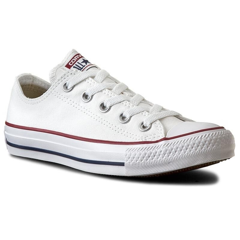 Converse All Star Canvas Ox Unisex Optical White Canvas Star Trainers Oxford Shoes a4830d