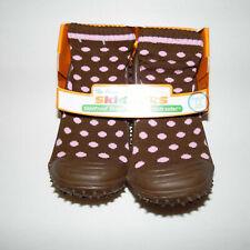 Skidders Brown//Pink Polka Dot Sneaker Shoe Toddler Size 12 4 Years 4T NWT