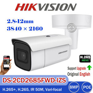 Details about Hikvision DS-2CD2685FWD-IZS 8MP IP Outdoor EXIR Bullet  2 8-12MM Motorized Camera