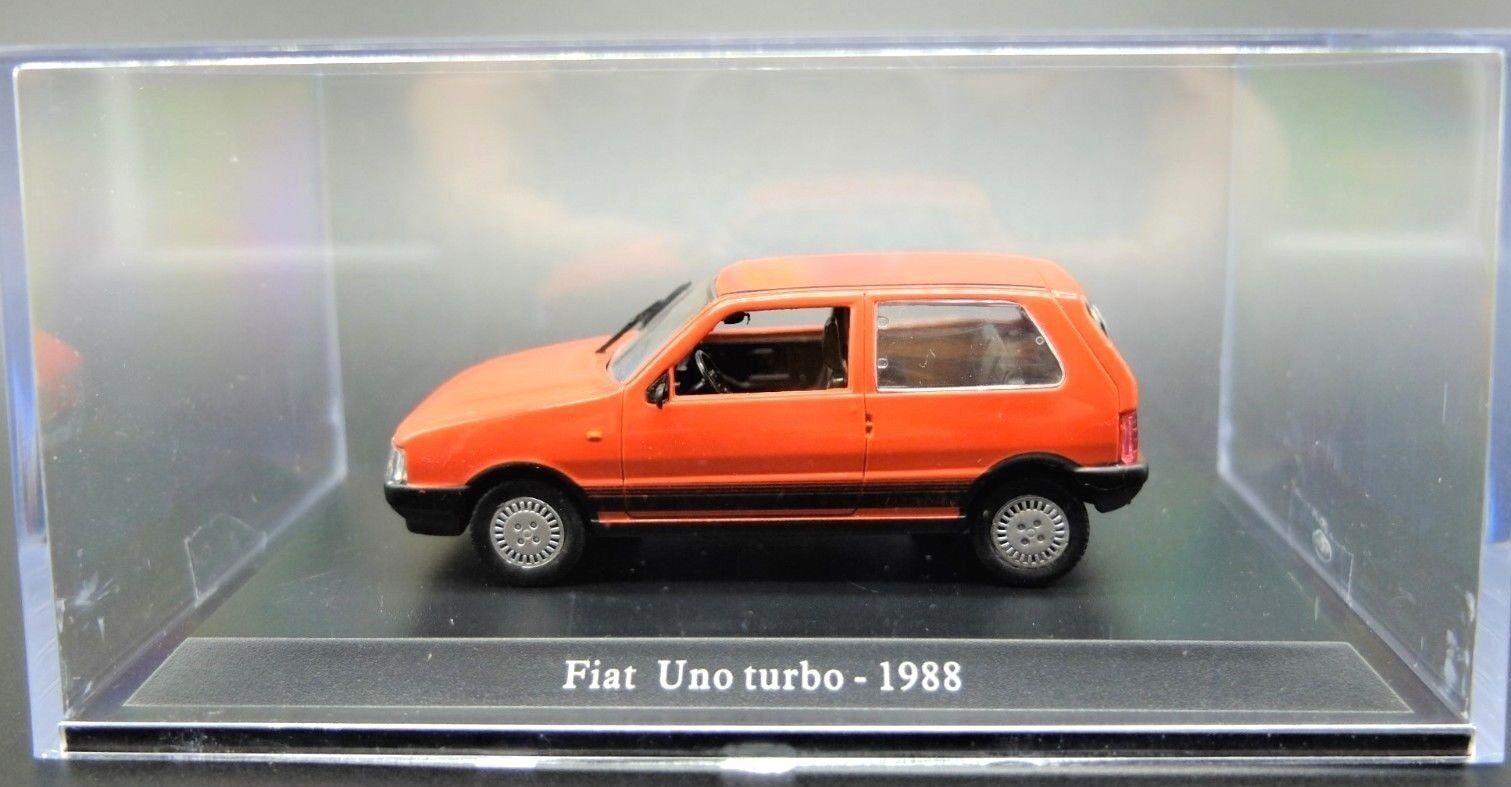MODELO AUTO FIAT FIAT FIAT UNO TURBO ESCALA 1 43 DIECAST COCHE MINIATURAS NOREV RARO 57aa5b