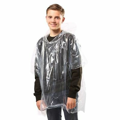 JB Kids emergency hooded plastic poncho