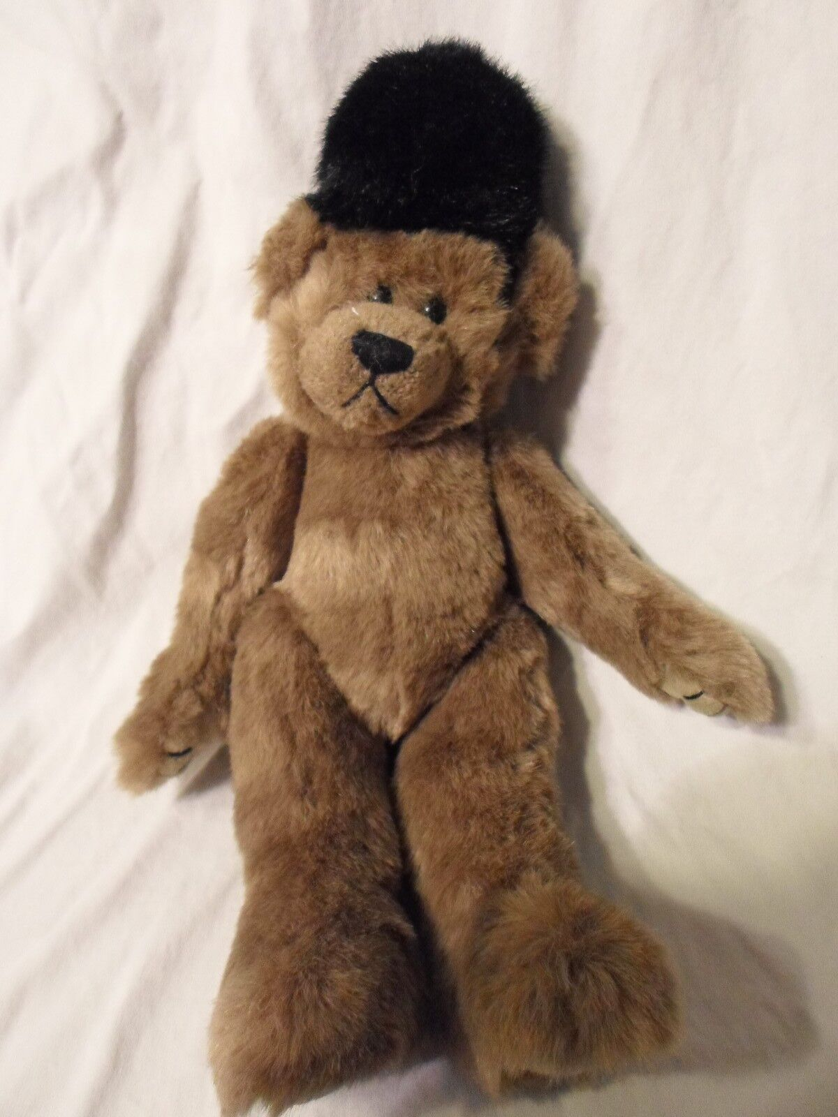 Ty 1993 Teddy Bear Toy Soldier Hat Jointed 15  Plush Soft Toy Stuffed Animal