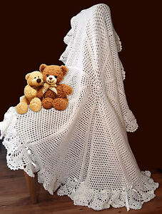 Round-Picot-Flower-Shawl-Crochet-PATTERN-DK-Gorgeous-Warm-Baby-Blanket