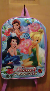 Disney Fairies Tinker Bell, Rosetta & Silvermist Nature's Memories Backpack