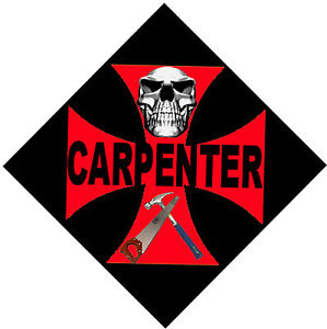 Carpenter On Red Cross With Black Background Cc 22 Ebay