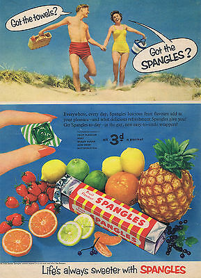 Vintage Confectionery Advertising poster  A4 RE PRINT  Spangles (Beach)