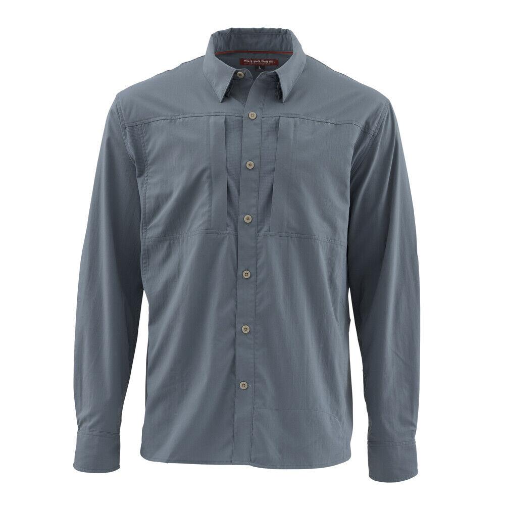 Simms pesca Slack Tide Shirt LS  Storm  L  nuovo DISCOUNTED