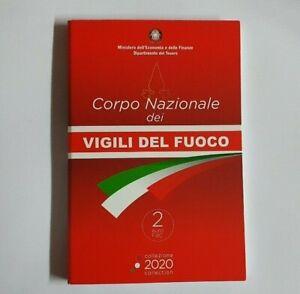 Coincard-mit-2-Euro-Gedenkmuenze-Italien-2020-Feuerwehr-BU