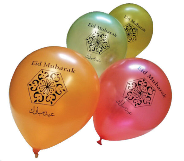 Happy Eid Balloons Quality Balloon Party Decorations Gifts Pack of 10 Helium