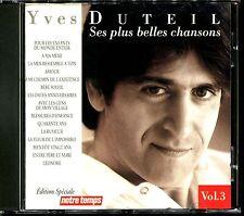 YVES DUTEIL - SES PLUS BELLES CHANSONS VOL.3 - BEST OF CD ALBUM [1877]