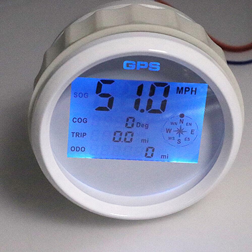 85mm Waterproof Marine Boat Gps Digital Speedometer