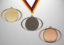 30 Medaillen Orden riesengroß Ø 85 mm TOP DESIGN mit Emblem, Band & Beschriftung
