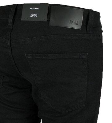 Hugo BOSS BLACK Herren Jeans Maine schwarz STRETCH 50399407 Regular Fit