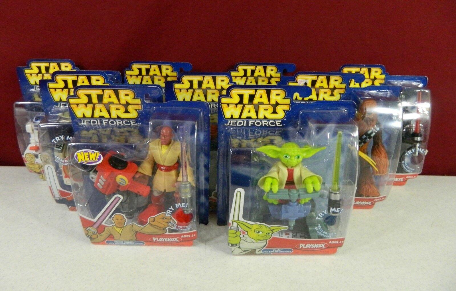 Lot of 9 New Hasbro Playskool Star Wars Jedi Force 2004 - 2005