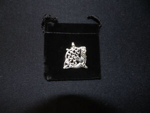 New 925 Sterling Silver Mystical Celtic Green Man Pendant with Free Gift Pouch