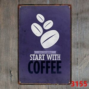 Metal-Tin-Sign-rule-the-world-start-with-coffee-Decor-Bar-Pub-Home-Vintage