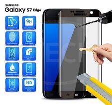 Samsung Galaxy S7 Edge Duos Dual SIM CURVED Glass Full Screen Protector (Black)